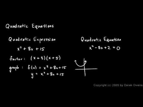 Algebra Review 10.1 - Quadratic Equations