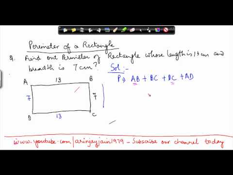 146-CBSE Class VI Maths,  ICSE Class VI Maths -  Mathematics Class VI - Perimeter - Rectangle