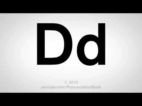 Basic English: How to Pronounce the Letter D