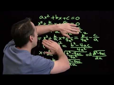 Art of Problem Solving: Proving the Quadratic Formula