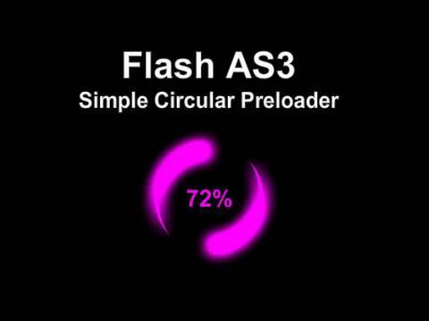 Simple Circular Flash Preloader Animation Tutorial for ActionScript 3.0 CS4 CS5.5 Website