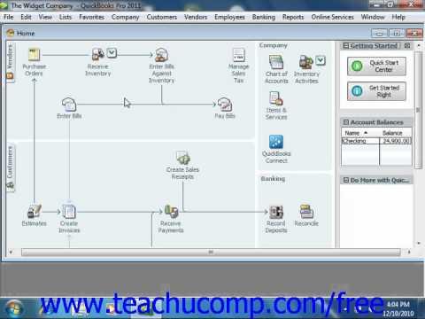 QuickBooks 2011-2007 Tutorial Using Portable Company Intuit Training Lesson 26.7