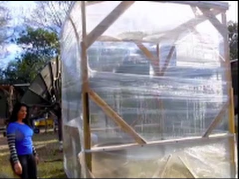 Instant Greenhouse Pallet Wrap Thermal Aqua Storage