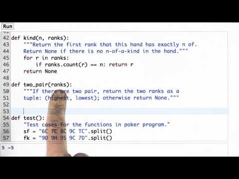 Two Pair Function - CS212 Unit 1 - Udacity