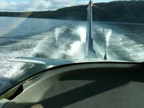 Fast takeoff in small seaplane British Columbia