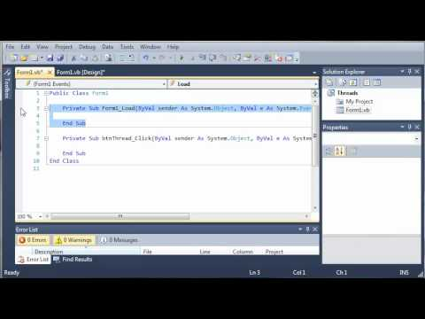 Visual Basic Tutorial - 144 - Threading