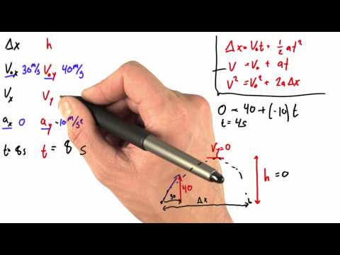 Solving for Final Velocity - Intro to Physics - Motion - Udacity