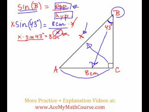 Sine Ratio - Question #4 (Intro Trig)