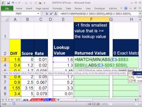 Excel Magic Trick 874: Lookup That Rounds To The Nearest Number (Increment Unequal) INDEX & MATCH