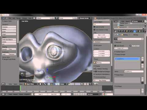 Cartoon Eyes with a Lattice Deform - Blender 2.63