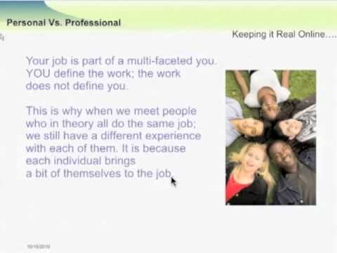 Webinar: Your Professional Life Online, What does That Mean?