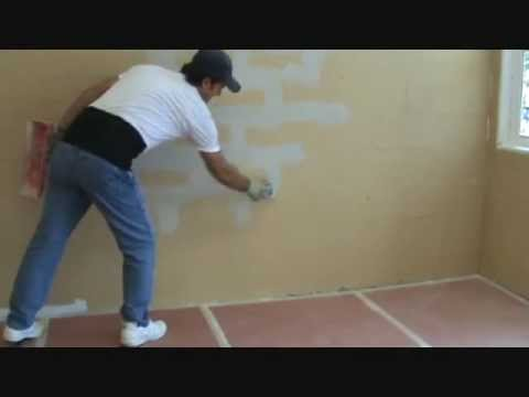 Applying quickset to a block wall