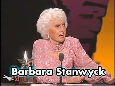 Barbara Stanwyck Accepts the AFI Life Achievement Award in 1987