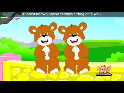 Five Brown Teddies - Nursery Rhyme with Lyrics