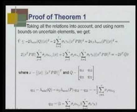 Module 4 Lecture 6 Linear controllers using T-S fuzzy model
