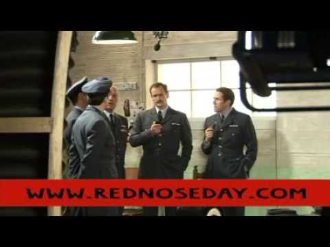 Behind the scenes of WWII Pilots - Armstrong & Mitchell and Miller & Webb - Red Nose Day 2009
