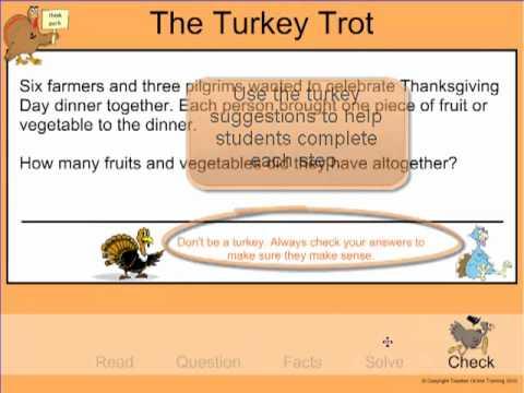 SMARTBoard Notebook Activity - The Turkey Trot