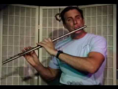 Flute Lesson: How to play a C major chord on the flute with arpegio