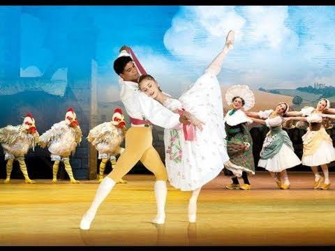 La Fille mal gardée (Royal Ballet), Dancers in rehearsal