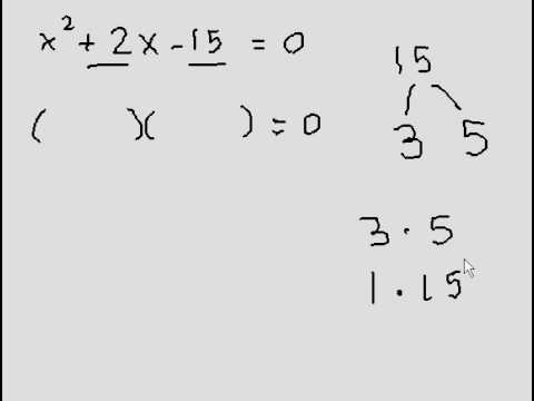 Quadratic (Solving through Factoring)