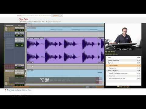 Pro Tools: Clip Gain