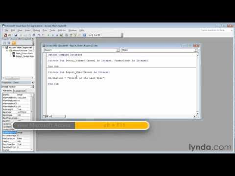 How to use the Me Object properties   lynda.com tutorial