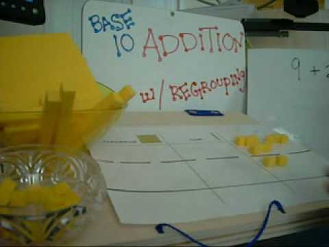 Using Base 10 Blocks Addition with regrouping