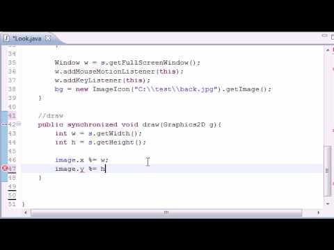 Java Game Development - 34 -  Mouselooks draw Method