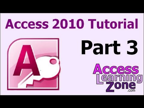 Microsoft Access 2010 Tutorial Part 03 of 12 - The Access Interface