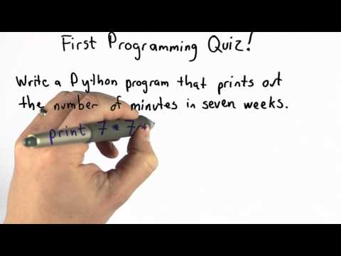 Solution of First Programming Quiz - CS101 - Udacity