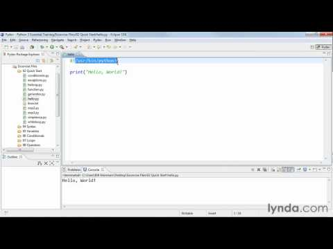 How to write script in Python | lynda.com tutorial