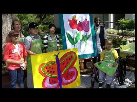 Painting In The Park To Make Life Better For Children With Cancer