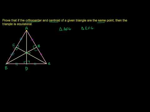 Common Orthocenter and Centroid