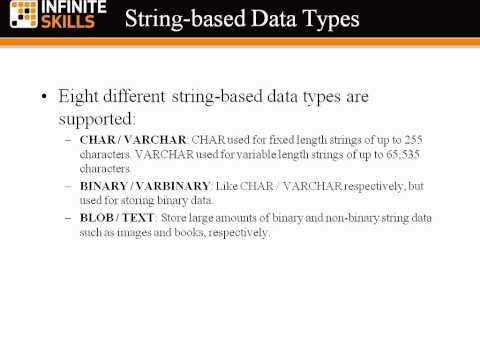 MySQL 5 Tutorial | String Data Types