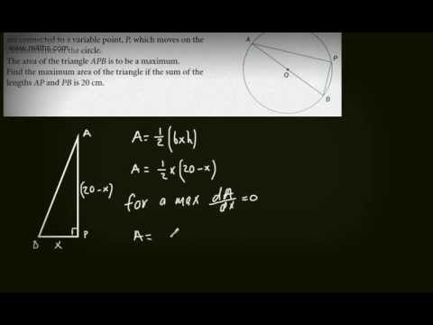 (a) Core 2 Optimisation Exam Style questions - C2 differentiation- AS maths