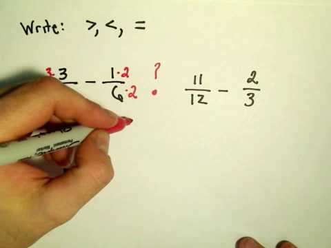 Comparing Fractions using Inequalities - Ex 2