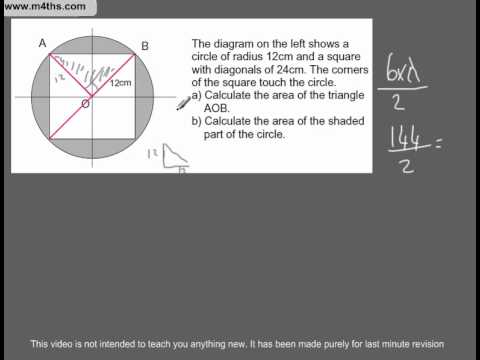 (Q40) A Star GCSE Revision Exam Style Questions Area of a circle