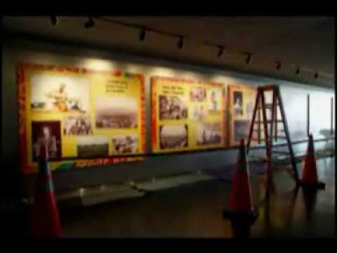 Installing the 'Woodstock at 40' Exhibit