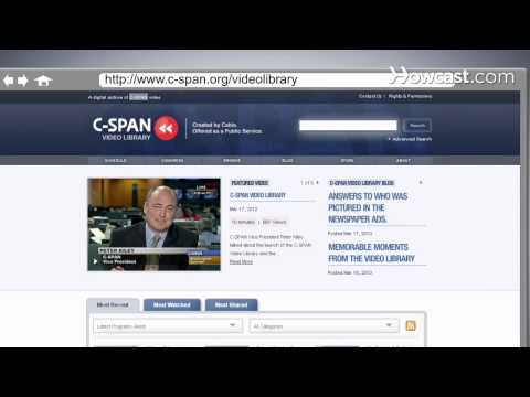 How to Use the C-SPAN Video Library