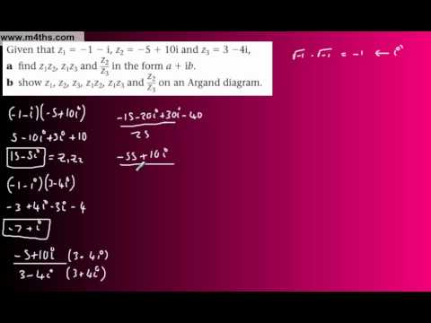 (13) FP1 Complex Numbers (Edexcel Further Pure Maths) - Argand Diagram Plotting part 2