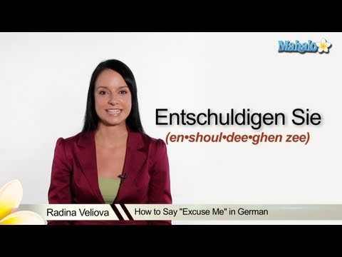 """How to Say """"Excuse Me"""" in German"""
