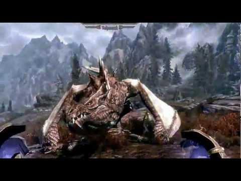 Skyrim Dragon Crash Landing