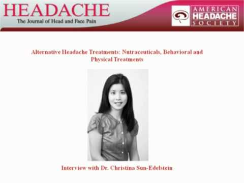 Dr  Sun Edelstein   Alternative Headache Treatments