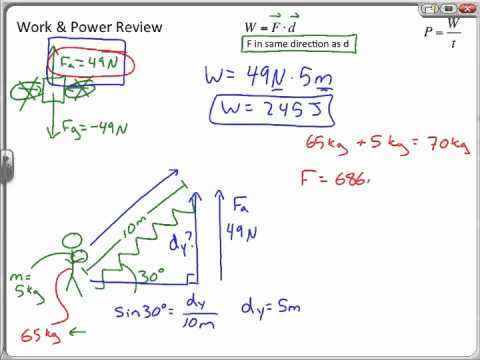 Work and Power Sample Problems, Chapter 10 Review