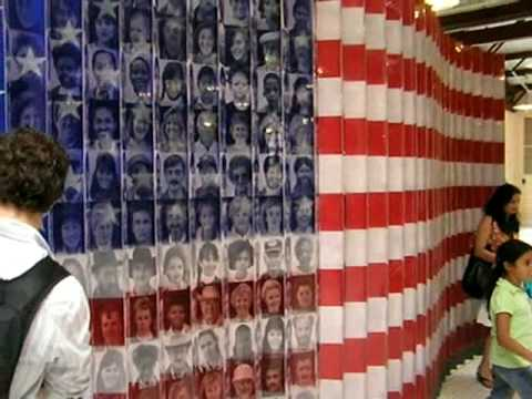 Faces and Flag Mural, Ellis Island, New York