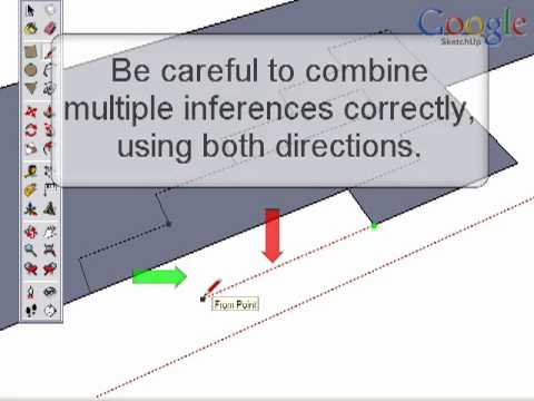Google SketchUp Technique Series: Inferencing