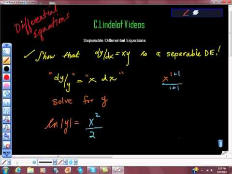 AP Calculus Separable Differential Equations Practice