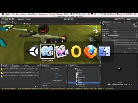140. Unity3d Tutorial - Weapon Meshes Part 1