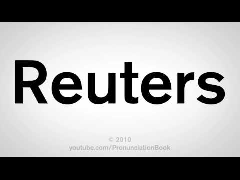 How To Pronounce Reuters