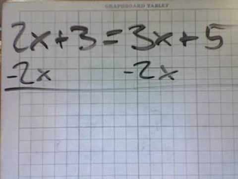 Algebra Equations